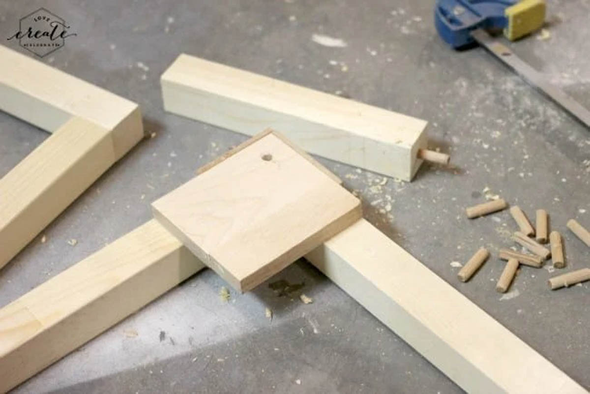 Attaching wood for the industrial pendant light frame