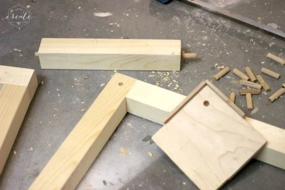 Creating the wood frame