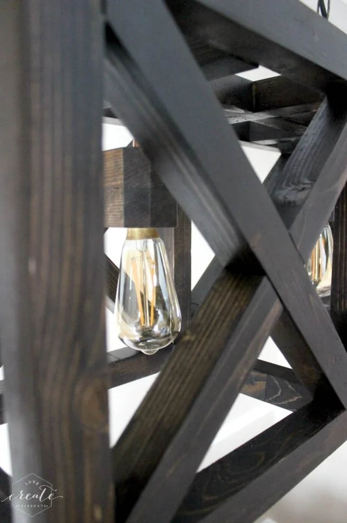 Close up of industrial pendant light