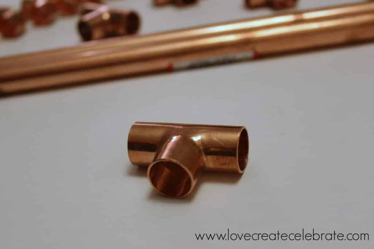 Image of a copper tee connector