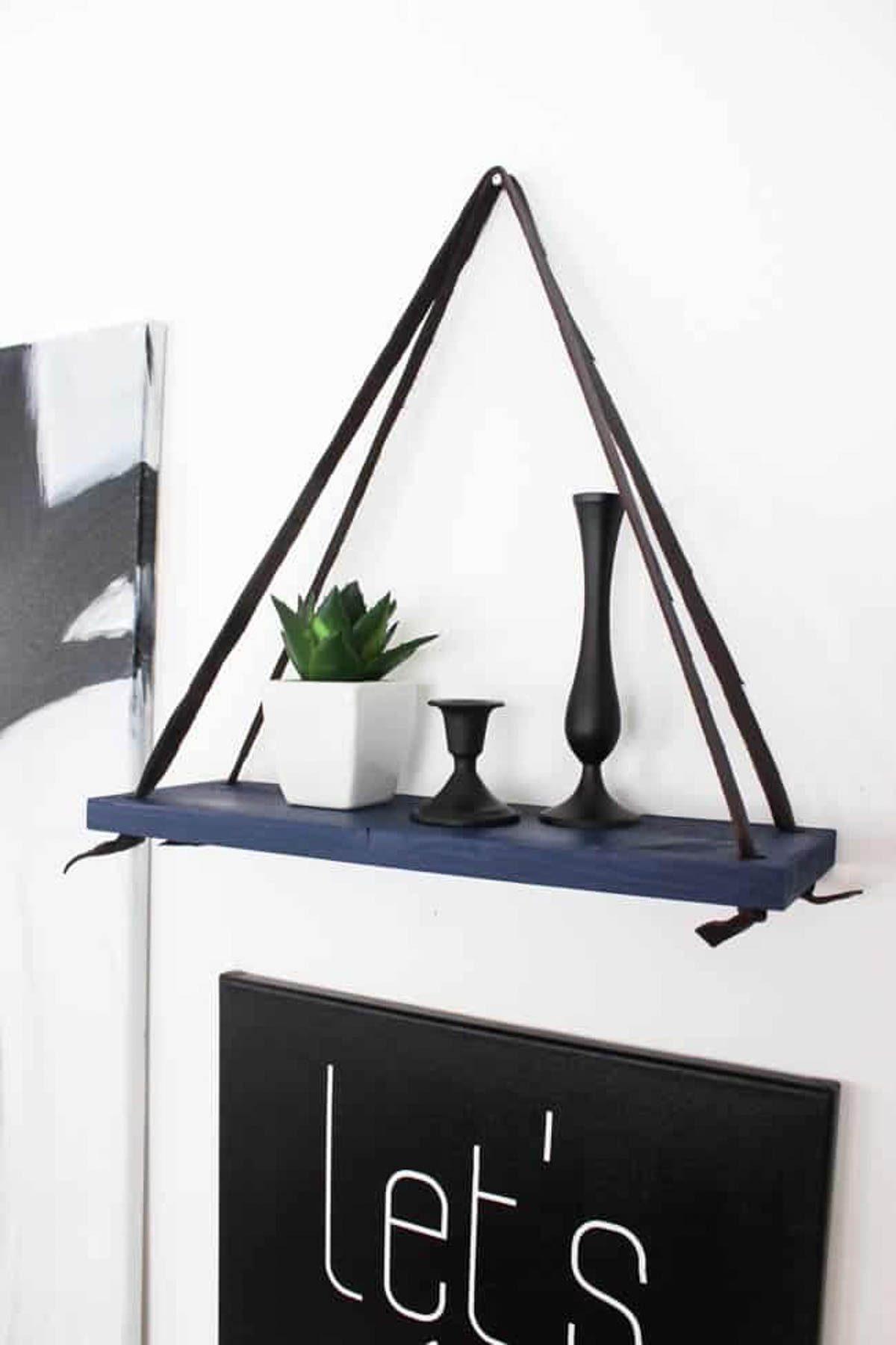 Image of a DIY hanging shelf