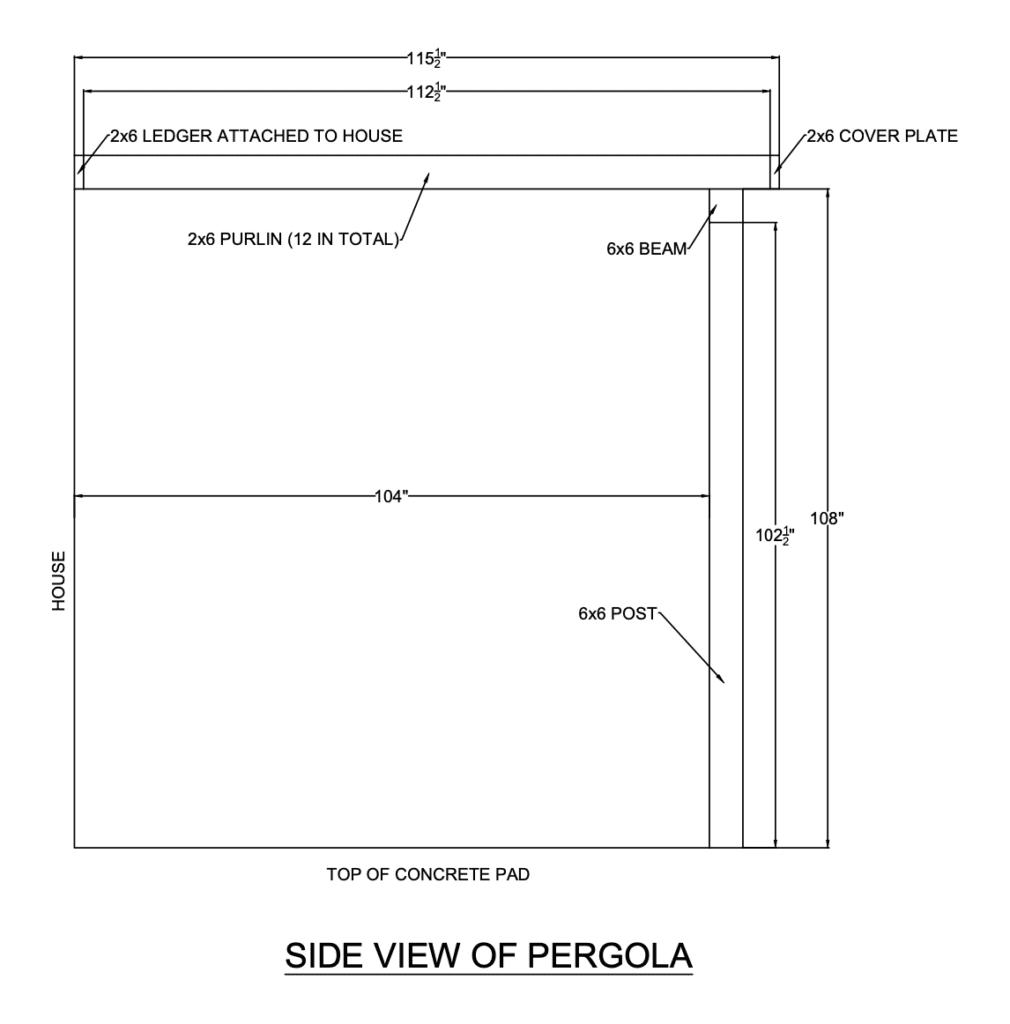 Side View of Pergola