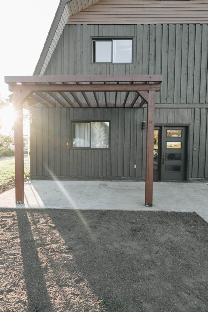 Pergola Attached to the House