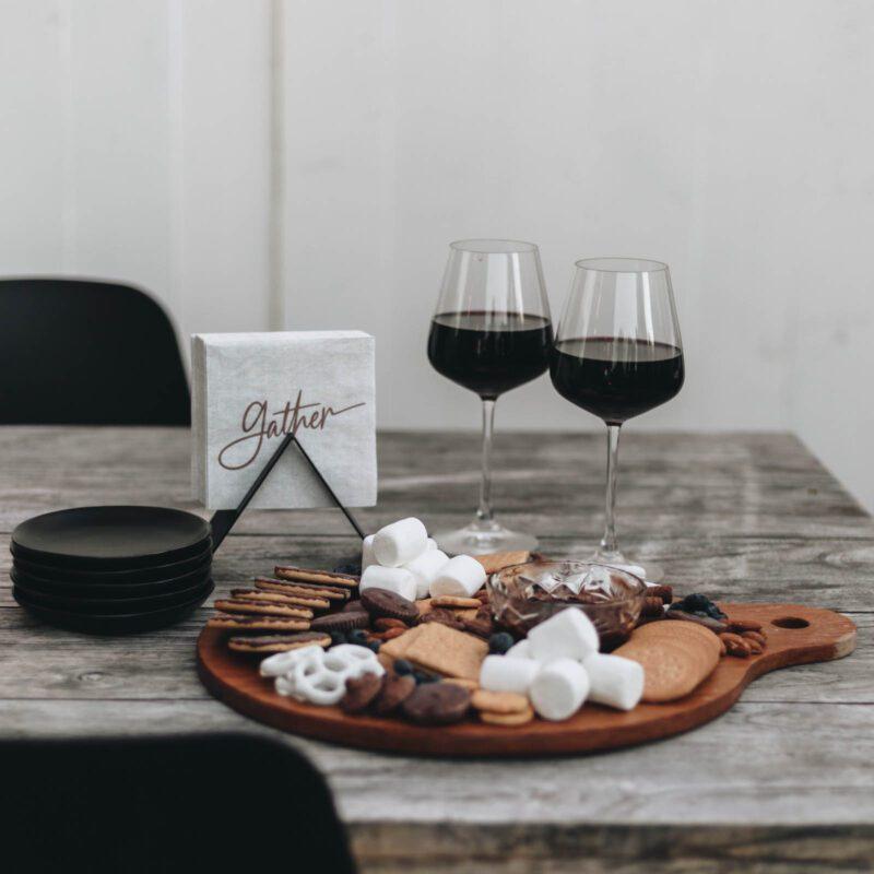 wine and charcuterie board night