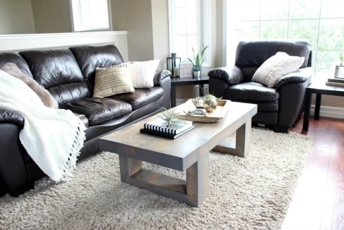 Modern coffee table in a living room