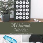 Dollar Store advent calendar DIY collage
