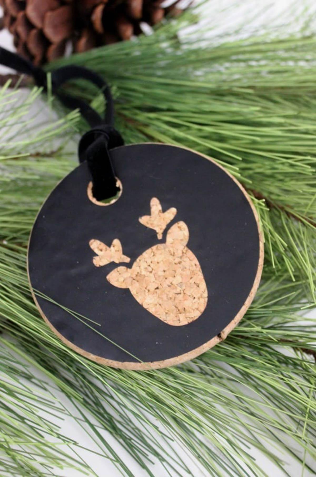 Cork deer ornament
