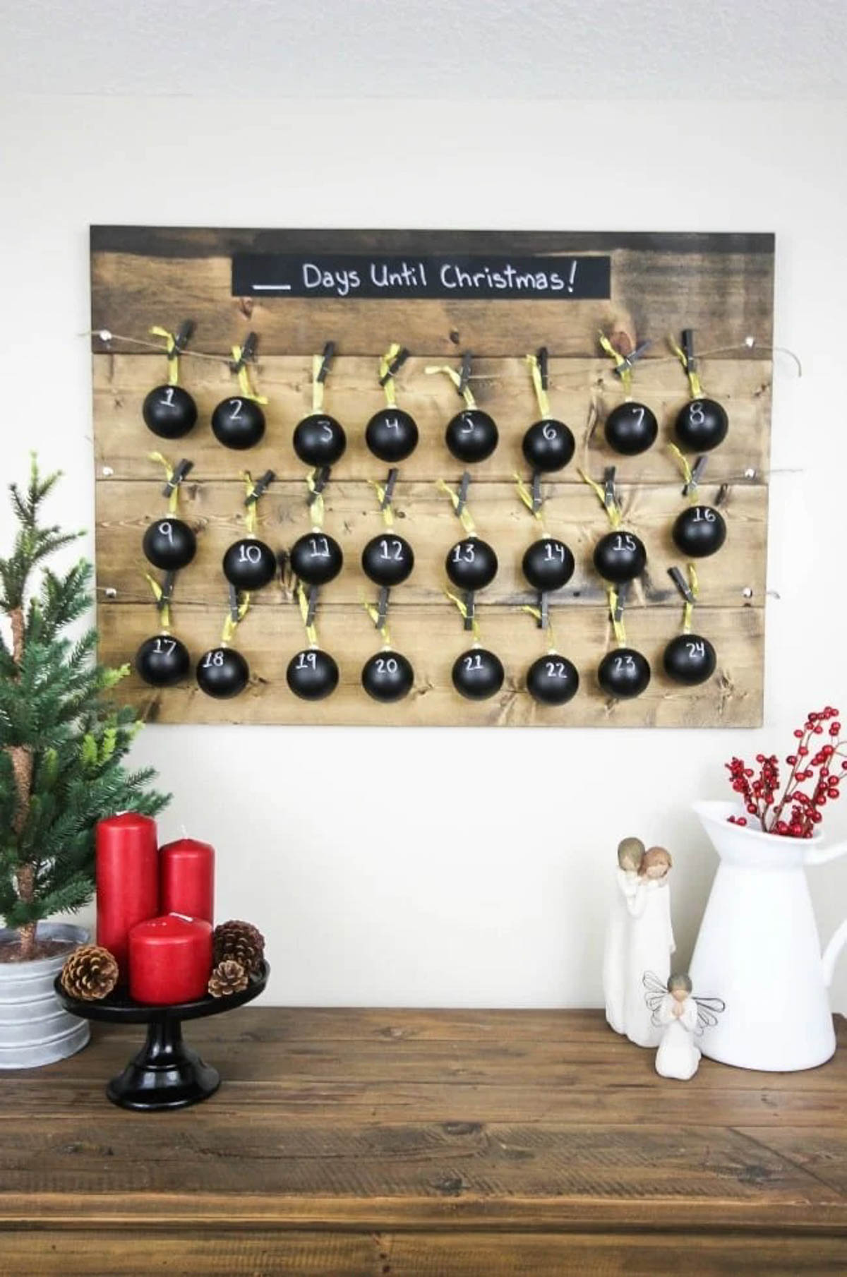 DIY rustic advent calendar