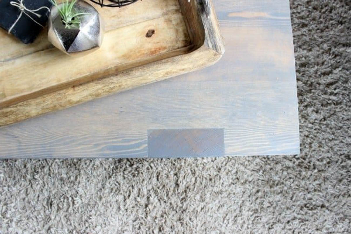 Topside image of the modern coffee table